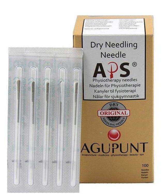 Agujas acupuntura, punción seca